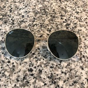 Ray-Ban Round Metal Sunglasses (gold)